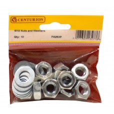 M10 ZP Nuts & Washers  (Pack of 10)