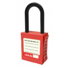 Dielectric Nylon Shackle Red Safety Lockout Padlock (Non Conductive)