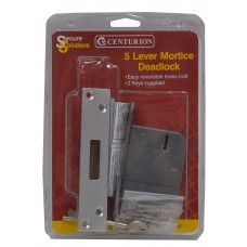 "63mm (2.5"") Chromed 5 Lever BS3621 Mortice Dead Lock"