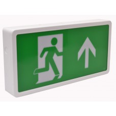 Emergency Exit Box LED 390 x 190 x 60mm - Maintained with up arrow fascia