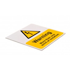 Warning more than one point of isolation - Pack of 5 SAV (75 x 75mm)