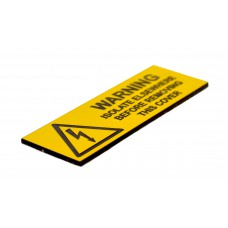 Warning Isolate Elsewhere - Pack of 5 Engraved (75 x 25mm)