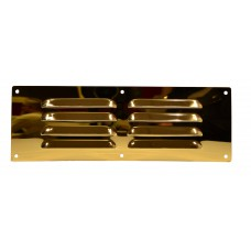 Louvre Vent - Solid Brass - 229 x 76mm