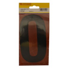 150mm Black Self Adhesive Vinyl Number 0
