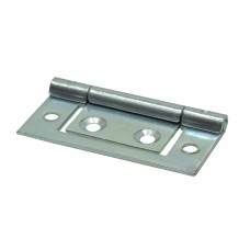 50mm BZP Flush Hinges (1 pair)