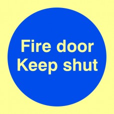 Fire door Keep shut - PHS (100 x 100mm)