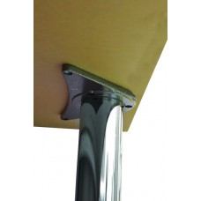 870 x 60mm Chrome Worktop Supports