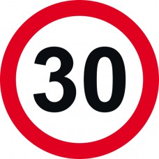 450mm dia. Dibond 30mph Road Sign (without channel)