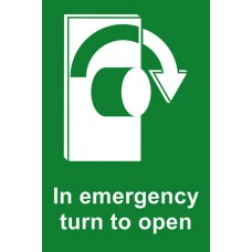 In emergency turn to open (Right) - RPVC (100 x 150mm)