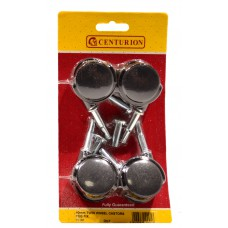 40mm Twin Wheel Peg Fix Castors (Pack of 4)