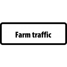 Supplementary Plate 'Farm traffic' - ZIN (870 x 300mm)