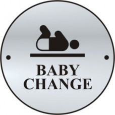 Baby change graphic door disc - SAA (75mm dia.)