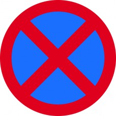450mm dia. Dibond 'No Stopping' Road Sign (without channel)