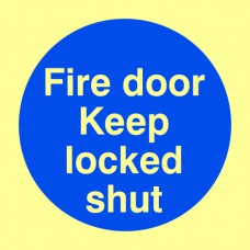 Fire door keep locked shut - PHO (100 x 100mm)