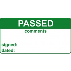 Passed & Comments - Labels (50 x 25mm Roll of 500)