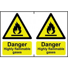 Danger Highly flammable gases - PVC (300 x 200mm)