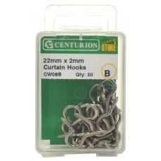 22mm x 2mm Curtain Wire Hooks (Pack of 25)