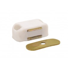 33 x 27mm ZP Mini White Magnetic Catch (Pack of 2)