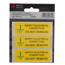 Safety Electrical Connection Do Not Remove - Pack of 5 SAV (75 x 25mm)