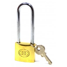 38mm Brass Long Shackle Tri-Circle Padlock
