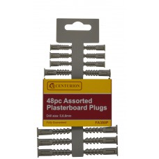Assorted Plasterboard Plugs 48pc