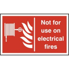 Not for use on electrial fires - RPVC (200 x 150mm)