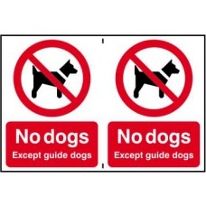 No dogs except guide dogs - CLG (300 x 200mm)