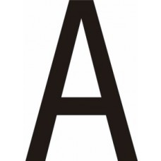75mm Black Vinyl - Character 'A'   (Pack of 10)