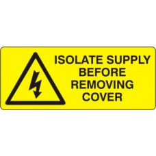 Isolate supply before removing cover - SAV (49 x 20mm, sheet of 56 labels)