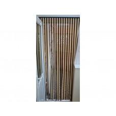 Heavy Duty Slat Door Blind - Brown & Cream