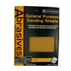 00 Abrasive Sandpaper (pack of 25)