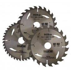 Hilka 190mm - 3 piece TCT Saw Blades 30mm bore (51190330)