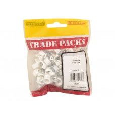 Cable Clip - White - 8mm (80 PK)