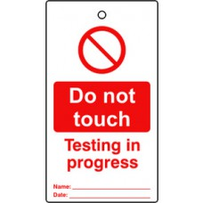 Lockout tags - Do not touch (Single sided 10 pack)