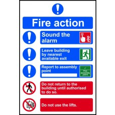 Fire action procedure - PVC (200 x 300mm)