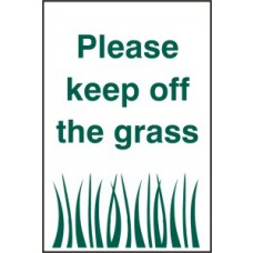 Please keep off the grass - PYC (200 x 300mm)