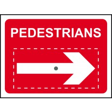 Pedestrians with reversible arrow - TriFlex Roll up traffic sign (600 x 450mm)
