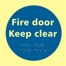 Fire door Keep clear - TaktylePh (150 x 150mm)
