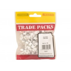 Cable Clip - White - 6mm (100 PK)