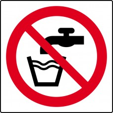 Not drinking water symbol - Labels (50 x 50mm Roll of 500)