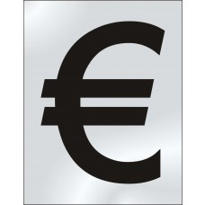 75mm Metallic Number Euro Symbol