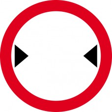 450mm dia. Dibond 'Width Restriction...' Road Sign (with channel)