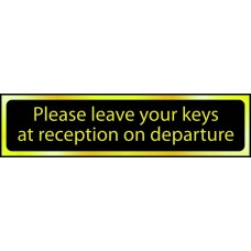 Please leave your keys ... - POL (200 x 50mm)