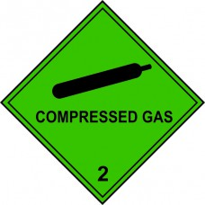 Compressed Gas 2 - Labels (250 x 250mm Pack of 10)