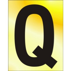 75mm Pol. Gold Effect - Character 'Q'
