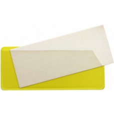 Magnetic Slide Pockets Side & Top Opening - 31 x 100mm (Yellow - Pack 10)