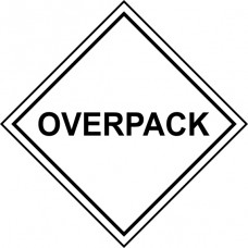 OVERPACK - Labels (100 x 100mm Roll of 250)