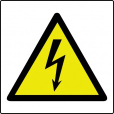 Electricity symbol - Labels (50 x 50mm Roll of 500)