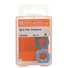 M10 ZP Flat Washers  (Pack of 8)