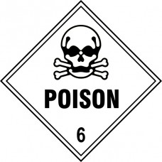 Poison 6 - Labels (100 x 100mm Roll of 250)